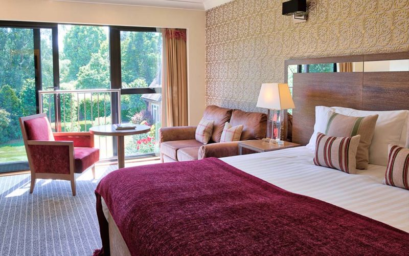 Oakwood Superior Bedroom with a Juliette balcony looking out to the garden