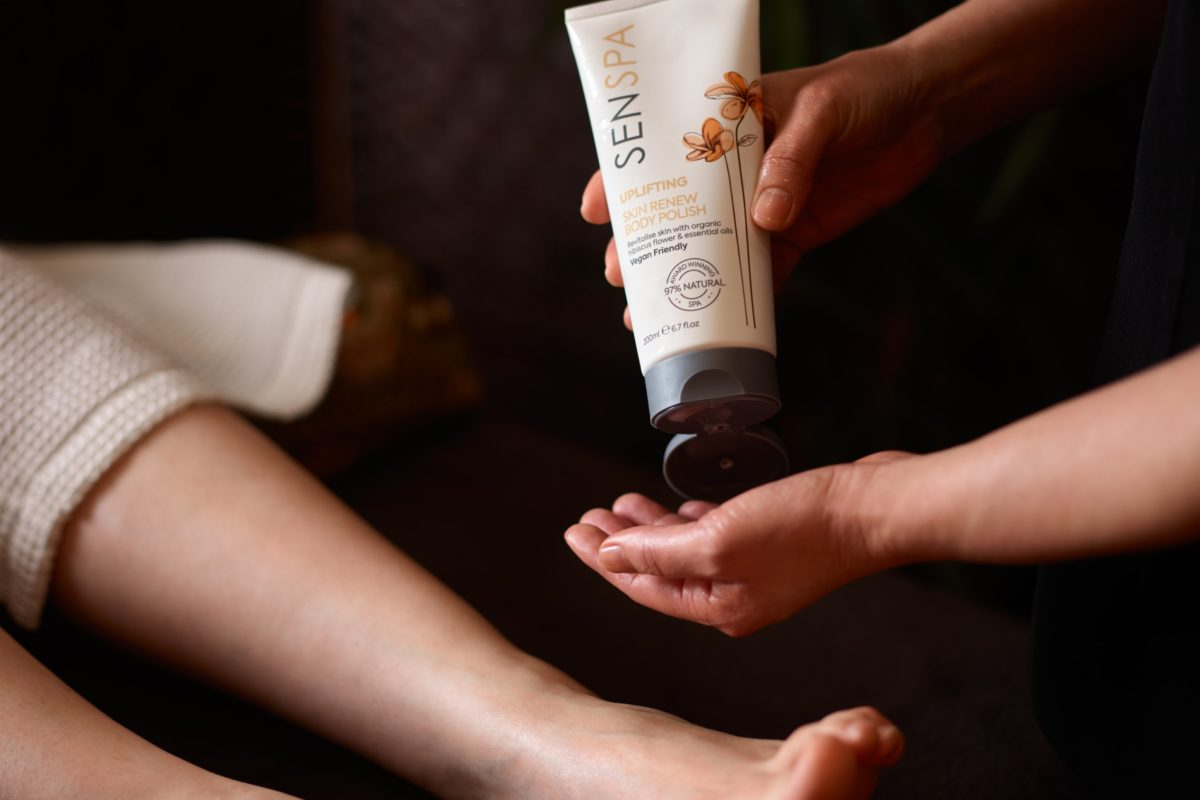 Relax and enjoy a luxury pedicure at SenSpa including a foot massage to relieve tension.