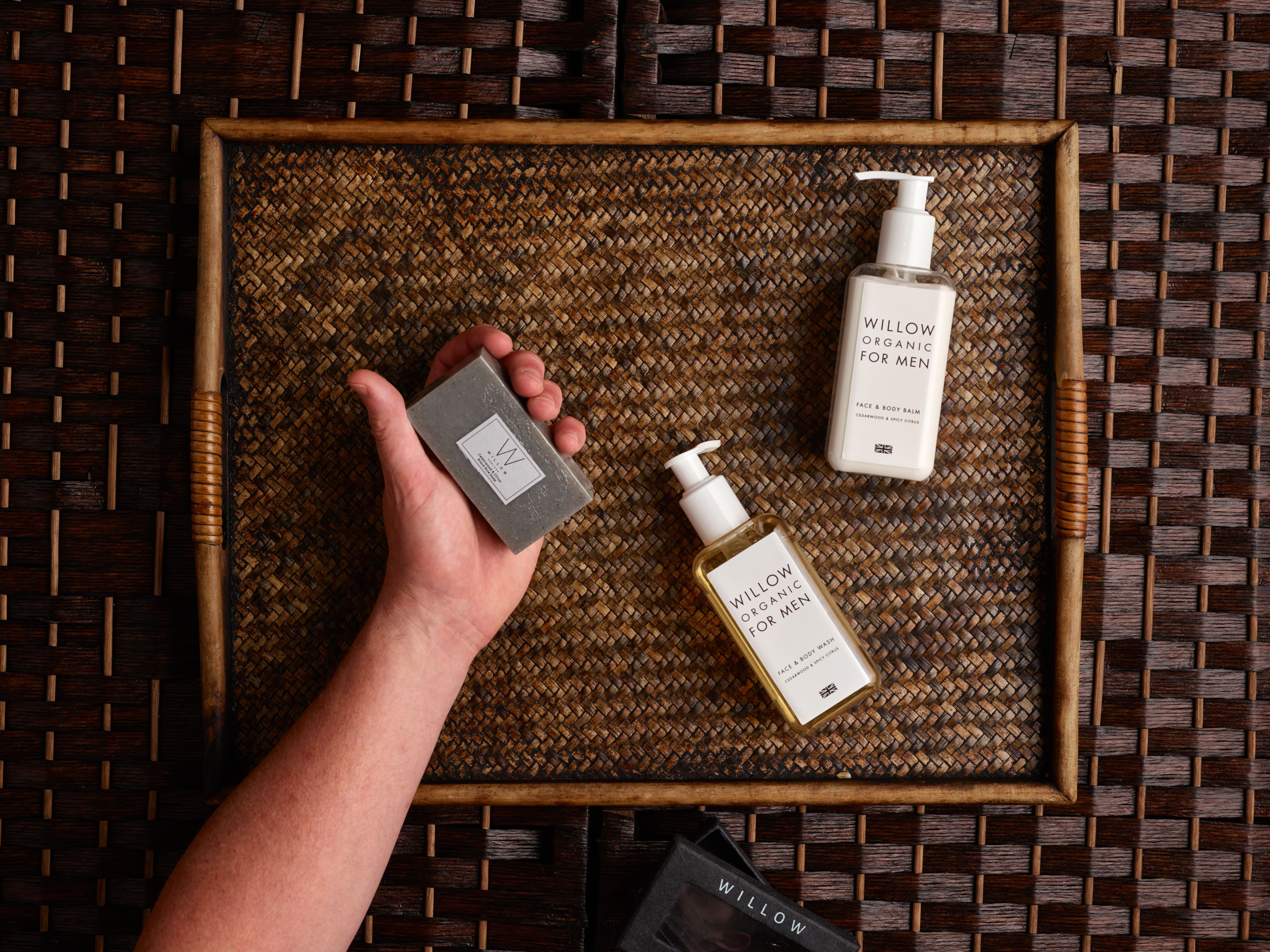 This spa facial begins with a cleanse and exfoliate using the Willow Face & Body Wash.