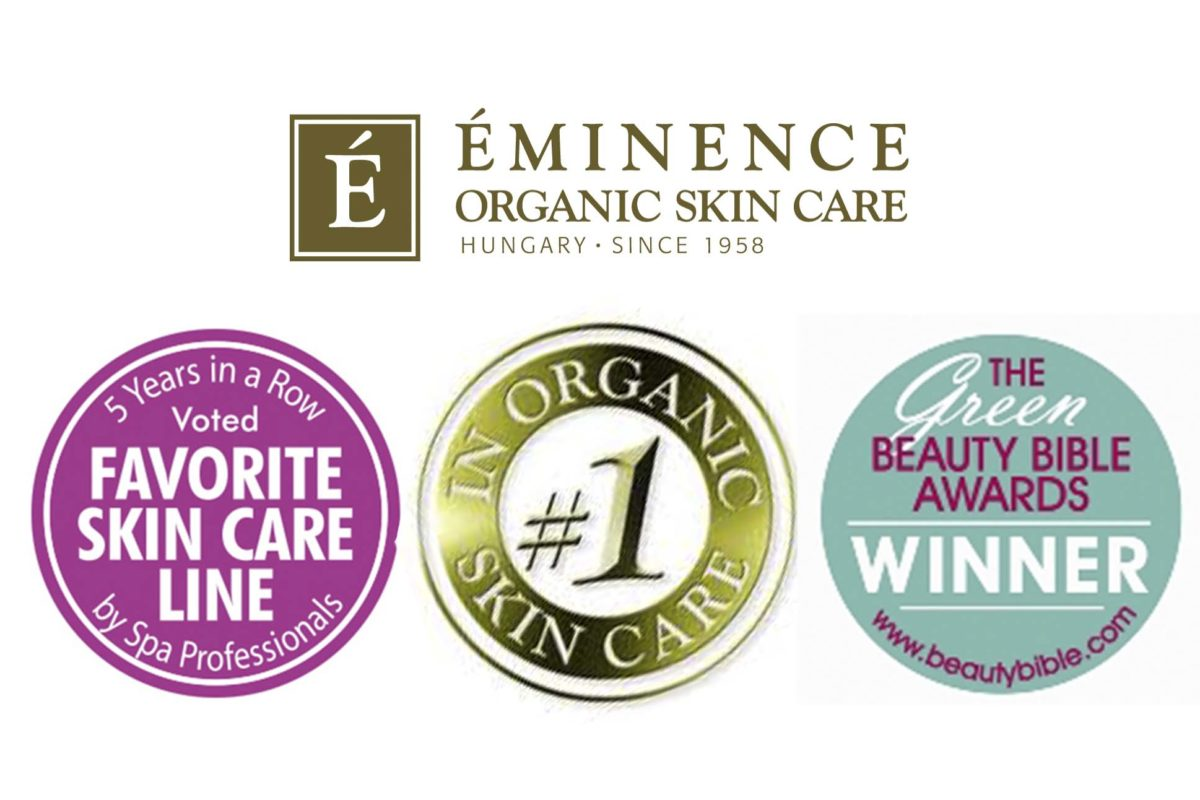 Eminence Skincare Logo and awards