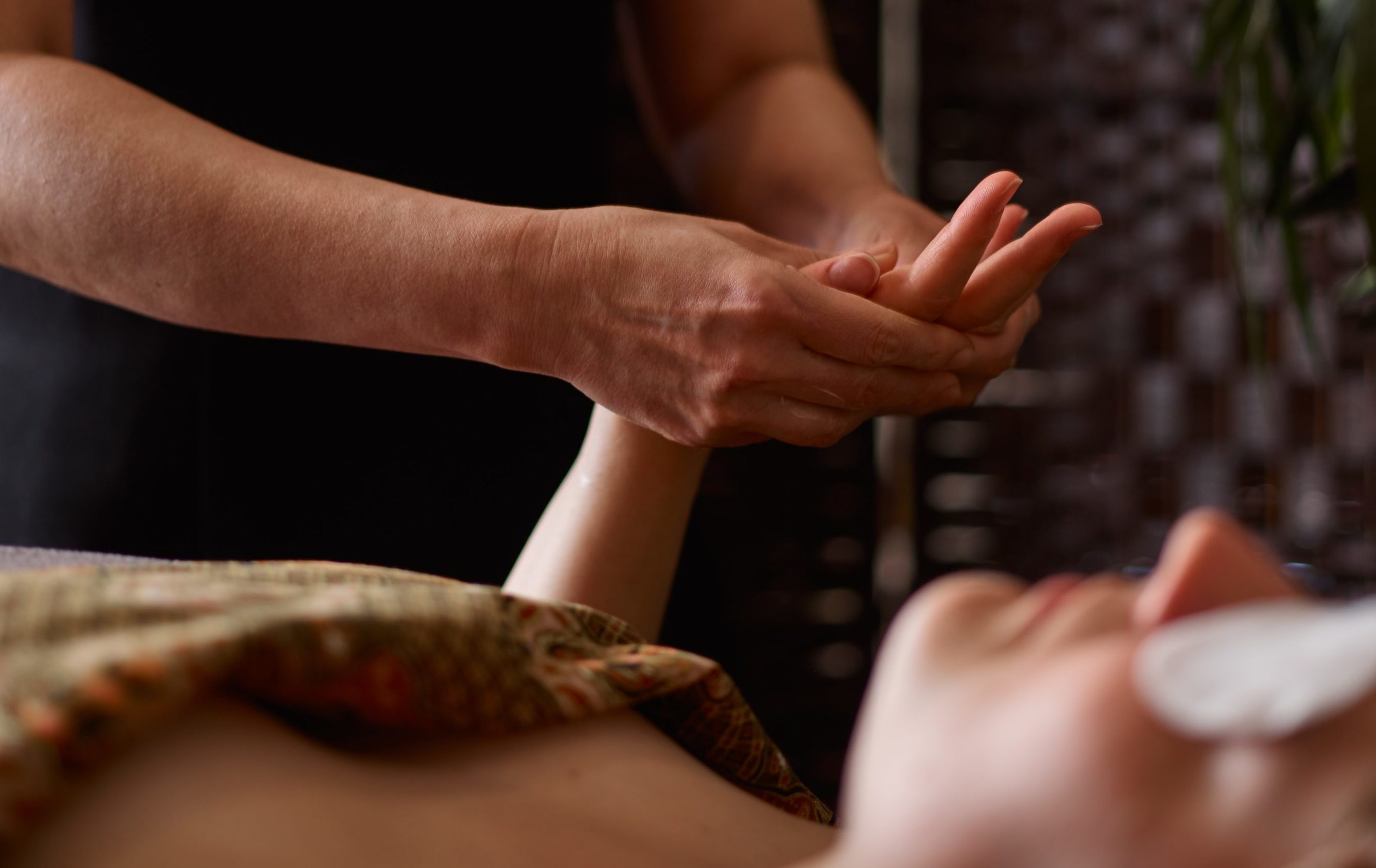 Hand massage as part of a luxury facial treatment at SenSpa
